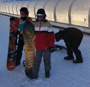 Students Take the Slopes