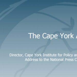 Noel Pearson: The Cape York Agenda